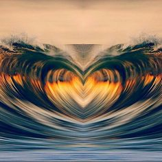 Heart in the sea Beautiful Heart Images, Beautiful World, Beautiful Pictures, Ocean Gif, Cartoon Smoke, Heart Wave, Heart In Nature, Heart Wallpaper, Pretty Wallpapers