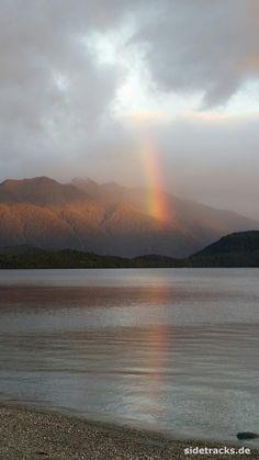 Lake Manapouri, Südinsel Neuseelands - Regenbogen