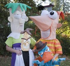 super crafty halloween costume contest vote now - Phineas Halloween Costume