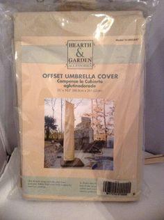 Hearth U0026 Garden Accessories PATIO OFFSET UMBRELLA COVER 35 X 103 Beige NIPu2026