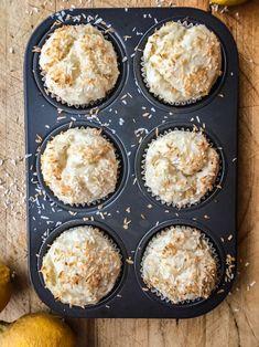 vegan lemon coocnut muffins