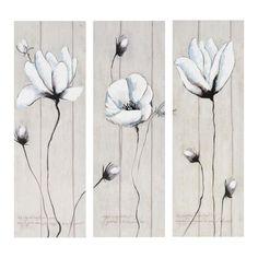 Ensemble de 3 toiles Marguerite