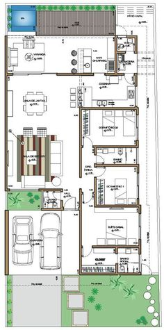 Leonardo J Navarrete T's media analytics. House Layout Plans, Family House Plans, Dream House Plans, Small House Plans, House Layouts, Bungalow Floor Plans, Home Design Floor Plans, Apartment Floor Plans, House Floor Plans