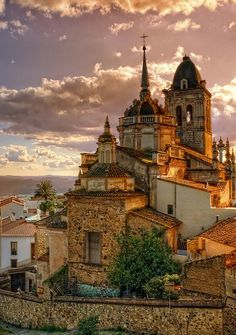 The town of Jerez de los Caballeros, Spain , from Iryna Places Around The World, Oh The Places You'll Go, Places To Travel, Places To Visit, Around The Worlds, Magic Places, Madrid, Spain And Portugal, Kirchen