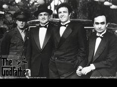 """""""The Godfather"""" •Marlon Brando/Don Vito Corleone  •Al Pacino/Michael Corleone  •James Caan/Sonny Corleone  •Richard S. Castellano/Clemenza  •Robert Duvall/Tom Hagen"""