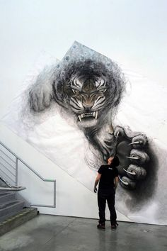 Fiona Tangs charcoal sketch style just gets more amazing the bigger the scale!