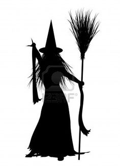 Homemade Life Size Wooden Witch With Cauldron Lawn