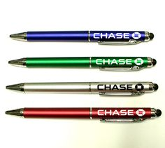 Pen with stylus -- Ballpoint pen with soft touch stylus. Beautiful metallic finish. Great for home, office, iPhone, iTouch, iPad and other smartphone. Is a great corporate gift.