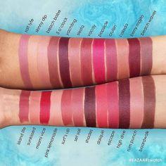 Tarte rainforest of the sea lipstick swatch Lipstick Dupes, Lipstick Swatches, Lipstick Colors, Lip Colors, Lipsticks, Sea Colour, Color Splash, Tarte Sea, Vegan Beauty