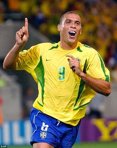 The phenomenon: Ronaldo during his leaner days at the 2002 World Cup, when he scored the t...