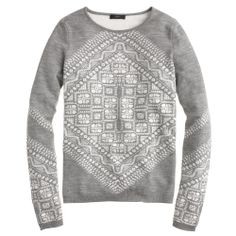 Modern take on the classic patterned Christmas sweater.