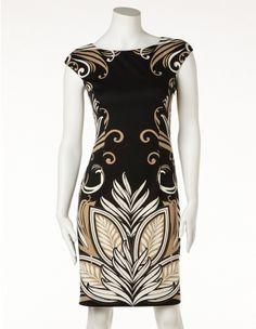 Placement Print Dress