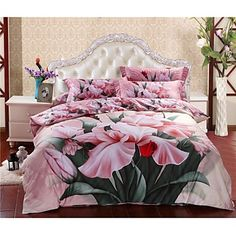Shuian® Duvet Cover Set,4 Piece Suit Comfort Simple Modern Reactive Flower Pattern Beds - EUR € 143.32