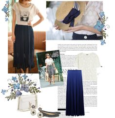 """""""Monday on blue"""" by sarapires on Polyvore"""