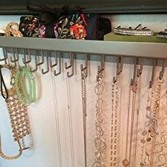 Wall Necklace Holder Jewelry Organizer Perfume Tray Closet Storage