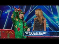 America's Got Talent 2015 S10E01 Piff The Magic Dragon Hilarious Magician - YouTube