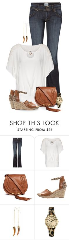 """""""A Pinch of Leo"""" by mwaldhaus ❤ liked on Polyvore featuring Hudson Jeans, Chloé, Gabor, Tiger Lily Jewelry and Timex"""