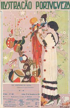 Ilustração Portuguesa, 2.ª série, n.º 409, 22 de Dezembro de 1913.. Illustrator: Stuart Carvalhais