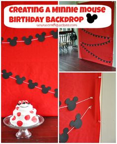 Baby's First Minnie Mouse Birthday Party from Craft Quickies - So many cute and easy ideas!