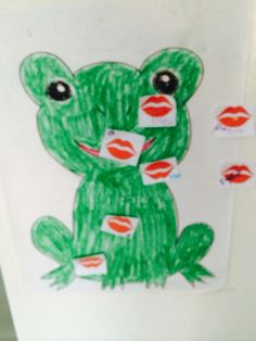 Pin the kiss on the frog