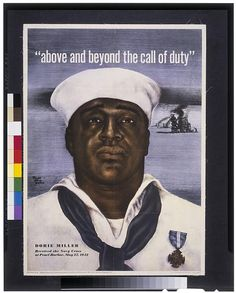 Above and beyond the call of duty--Dorie Miller received the Navy Cross at Pearl Harbor, May 1942 African American History Month, African American Men, American Odyssey, Navy Cross, Female Marines, Pearl Harbor Attack, Library Of Congress, Above And Beyond, Call Of Duty