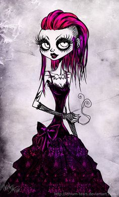 gothic cuteness. Pretty in Pink  by ~Lithium-Tears