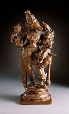 Varaha, the Boar Avatar of Vishnu India, Tamil Nadu, circa 1600 Copper (via Los Angeles County Museum of Art / LACMA) Indian Gods, Indian Art, Bronze Sculpture, Sculpture Art, Arte Ganesha, Apocalypse Art, Lord Ganesha Paintings, Hindu Statues, Wood Carving Art