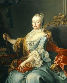 Emperatriz María Teresa de Austria, por Martin Van Meytens♥