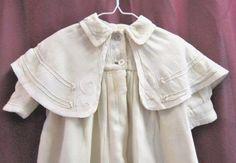 Rare Vintage/Antique EDWARDIAN baby long cape coat 1900's clothing Christening #Christening