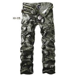 New Men's military camo outdoor overalls cargo loose pants trousers pockets