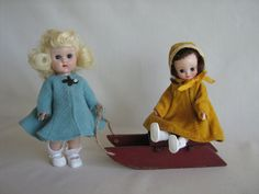 Vintage Red Wooden Sled for Small Dolls or Display by TheToyBox