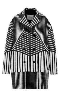 Shop Jacquard Cocoon Coat by Peter Som for Preorder on Moda Operandi