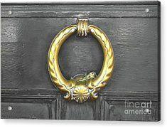 The Golden Door Knocker Acrylic Print by Michelle Meenawong