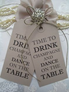 100 Wishing Tree Tags Time To Drink Champagne And by TheIvoryBow