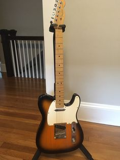 2000 Fender American Standard Telecaster Ash Two-Tone Burst W/ Maple Neck