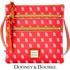 St. Louis Cardinals MLB Signature Triple Zip Crossbody by Dooney & Bourke - MLB.com Shop
