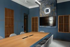 Офис рекламного агентства Hand Made в Кракове: фото интерьеров в голубых тонах   AD Magazine