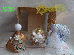 k - SAShE. Rodin, Bobbin Lace, Nespresso, Nativity, 3 D, Couture, Christmas Ornaments, Holiday Decor, Crochet