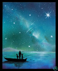 Father Daughter Space Art Wall Art Paintings on by KanoelaniArt