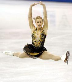 Joannie Rochette  -Black Figure Skating / Ice Skating dress inspiration for Sk8 Gr8 Designs.