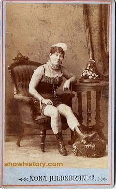 """Nora Hildebrandt - """"America's First Tattooed Lady"""""""