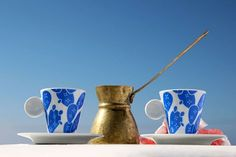 New Designer in the House! Proudly introducing: The Blue White! Stock up on their bold interior design products, inspired by poetic summers in the Greek islands and the colors of Ellada! Shop the set of coffee cups here: Explore their collection here: The Donkey, Beach Accessories, Industrial Style, Coffee Cups, Blue And White, Graphic Design, Tableware, Greece Design, Greeks