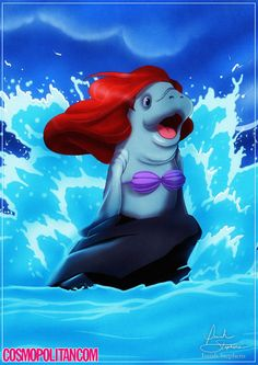 If Disney Princesses Were Manatees, Obviously  - Cosmopolitan.com