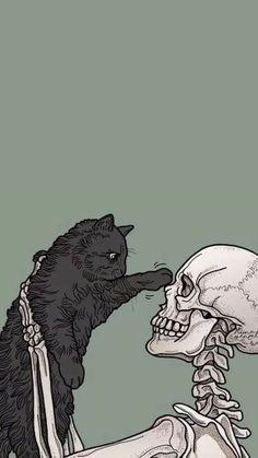 Witchy Wallpaper, Halloween Wallpaper Iphone, Skull Wallpaper, Tumblr Wallpaper, Dark Wallpaper, Cartoon Wallpaper, Wallpaper Backgrounds, Black Aesthetic Wallpaper, Aesthetic Iphone Wallpaper