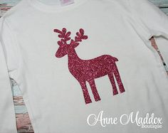 Glitter Reindeer Shirt, Christmas Shirt, Christmas Shirts for Girls, Toddler Christmas Shirt, Girl Christmas Shirt
