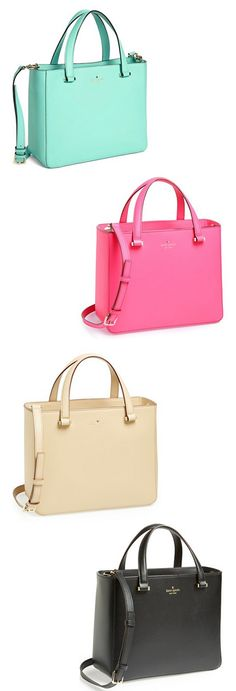 Colorful kate spade new york 'park avenue sweetheart' leather crossbody tote, medium. I'll take one in each color please!