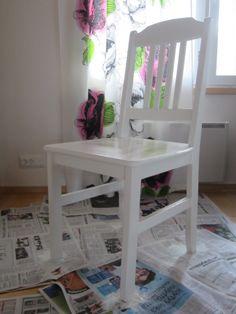 Tee-se-itse-naisen sisustusblogi: Hand Painted Wooden Chair