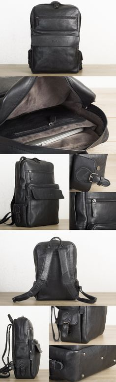Perfect everyday laptop backpack in durable vegetable tanned leather by #TheLeatherExpert