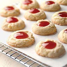 Lemon-Raspberry Thumbprints : King Arthur Flour