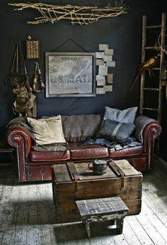 Sofa mit klassischem Design für ein Zimmer mit Jagd Motiven